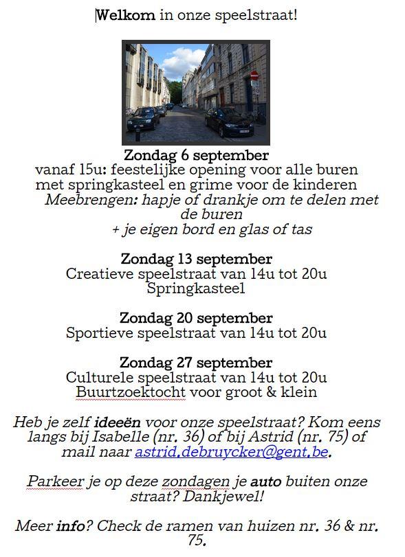 Speelstraat Filips van Marnixstraat